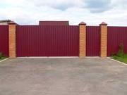 Забор красивый и прочный из профнастила